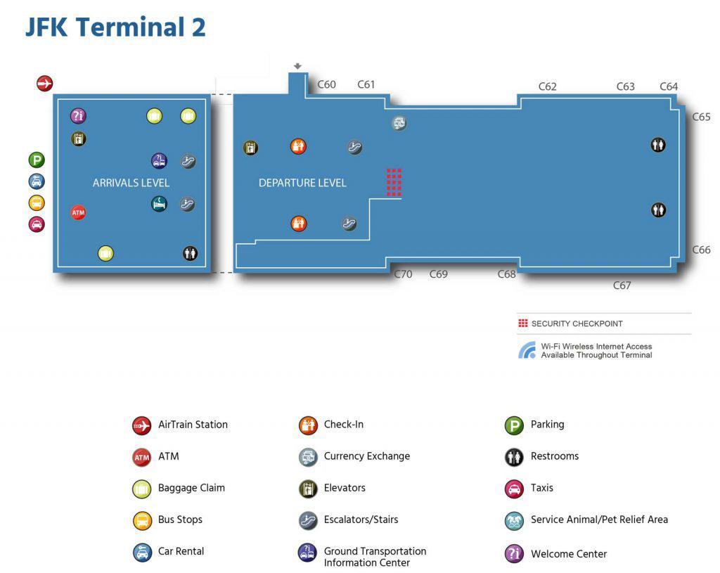 карта терминала 2 jfk