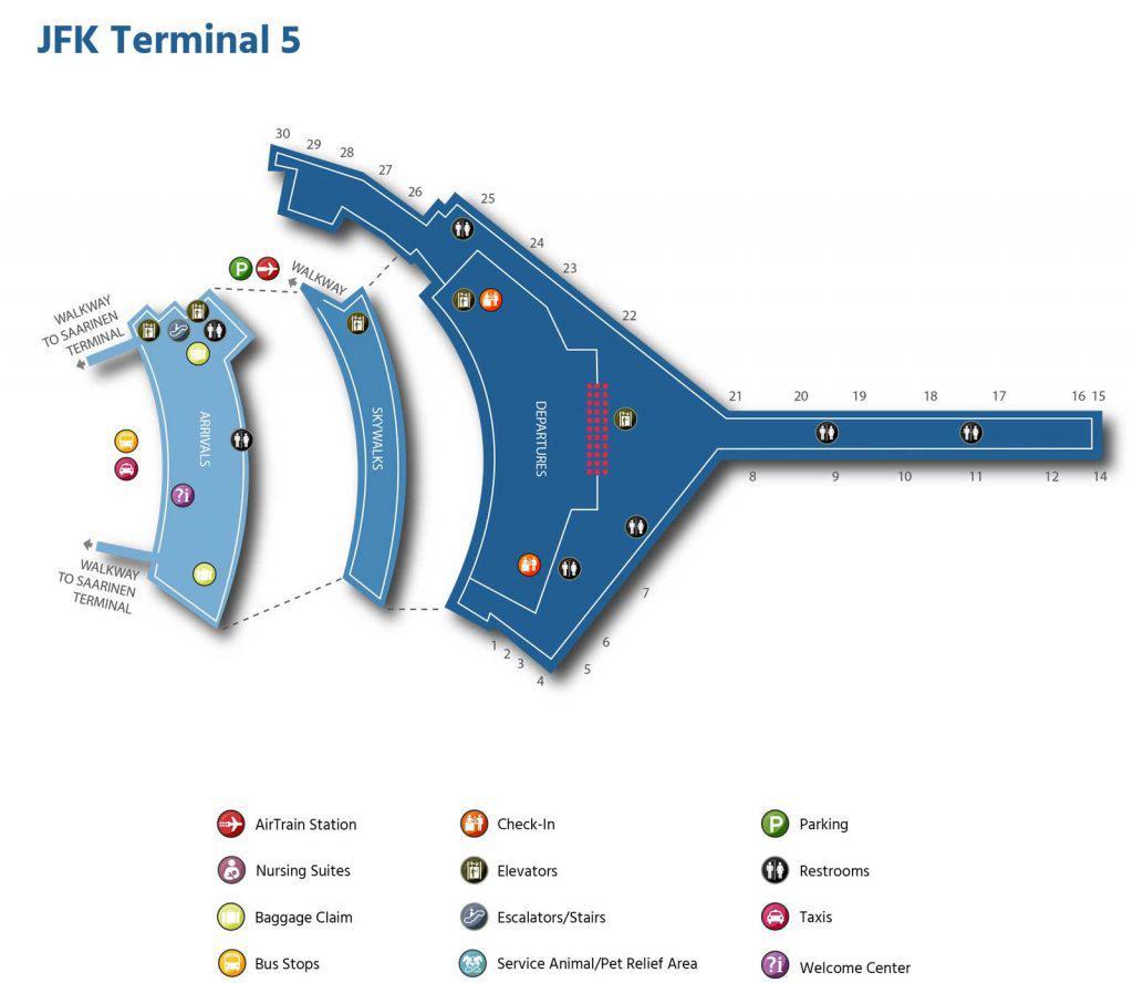 пятый терминал jfk